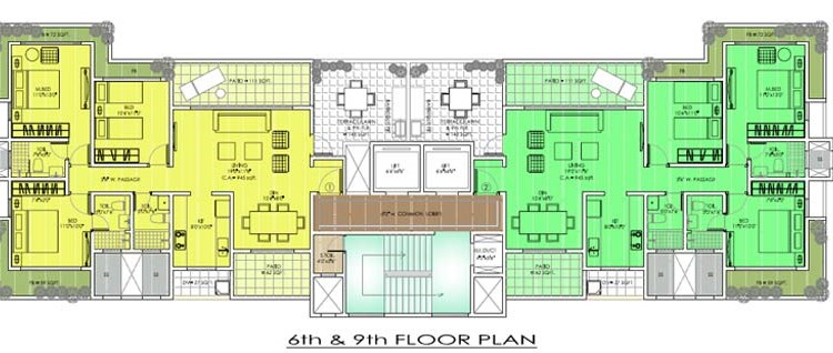 Parwana Tower 6 and 9 Floor Plan