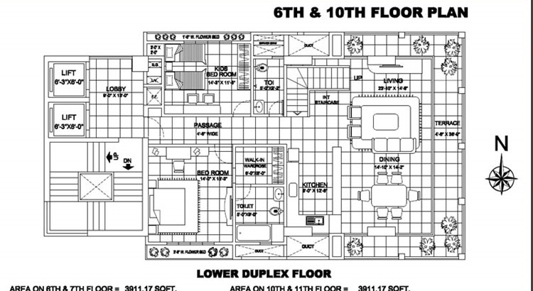 Man Dune 6th and 7th floor Plan