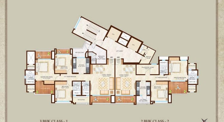 Woodside III 14th Floor Plan