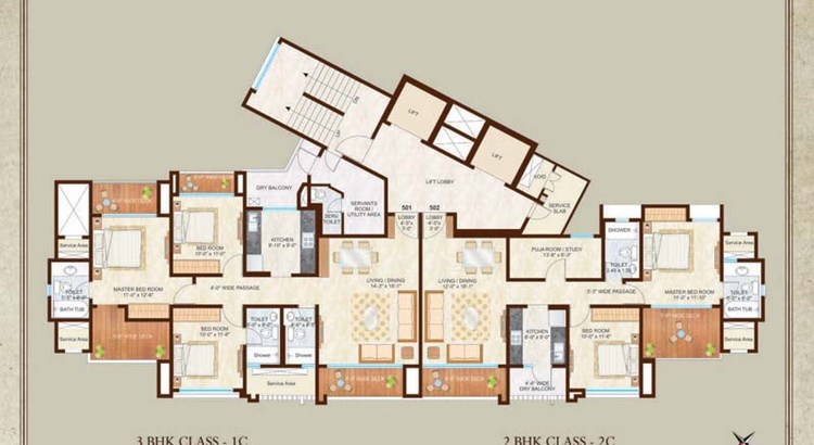 Woodside III 15th Floor Plan