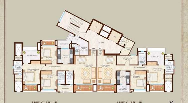 Woodside III 16th Floor Plan