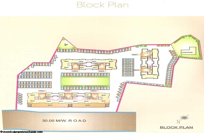 Bhairav Residency Block plan