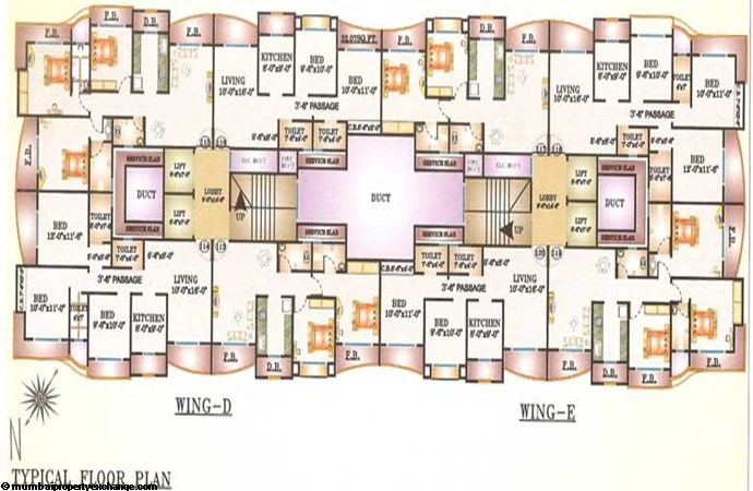 Bhairav Residency Wing D & E Floor plan