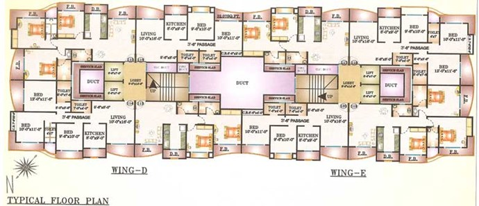 Wing D & E Floor plan