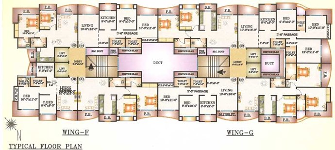 Wing F & G Floor plan