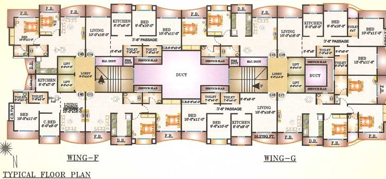 Bhairav Residency Floor plan 3