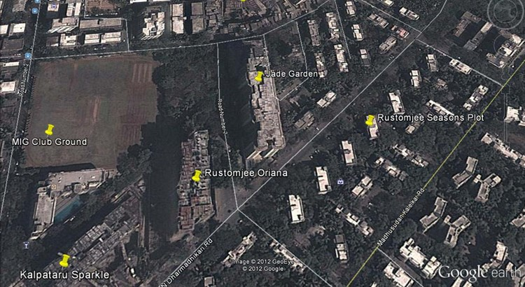 Rustomjee Oriana Google Earth