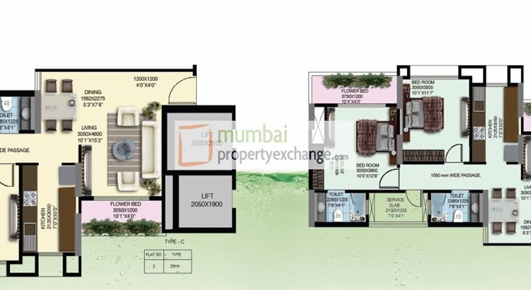 Water Lily and White Lily Floor Plan I