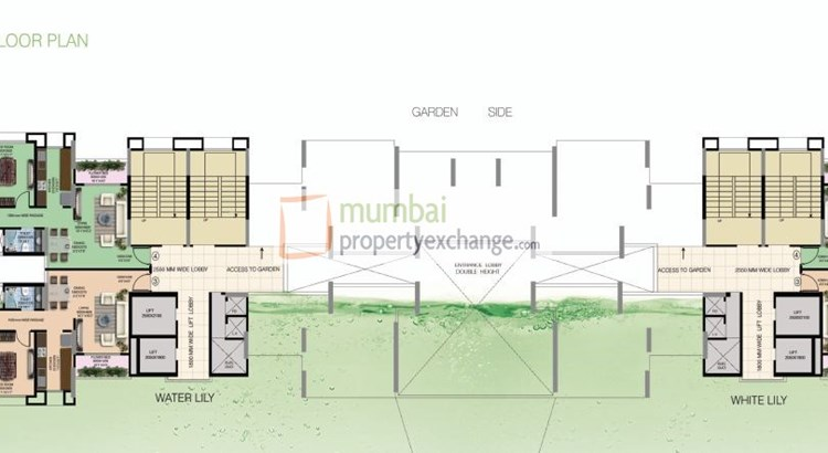 Water Lily and White Lily Floor Plan III