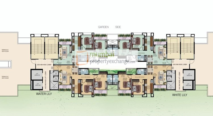 Water Lily and White Lily Floor Plan IV