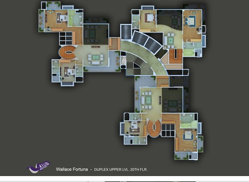 Wallace Fortuna Duplex upper Plan
