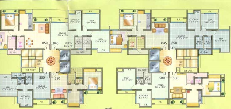 Aakar Residency Floor Plan