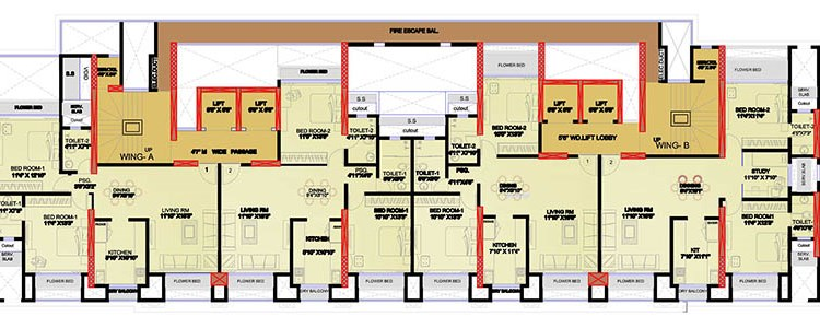 Mayfair Heritage 1st to 5th floor Plan