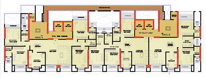 3 BHK and 4 BHK-1st to 5th