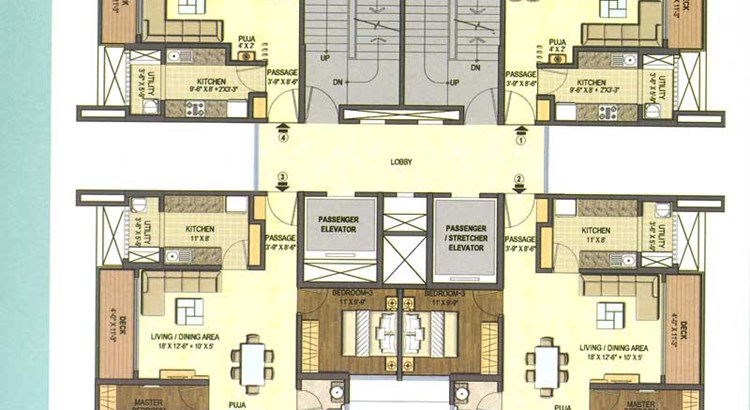 Lodha Excellencia Floor Plan I