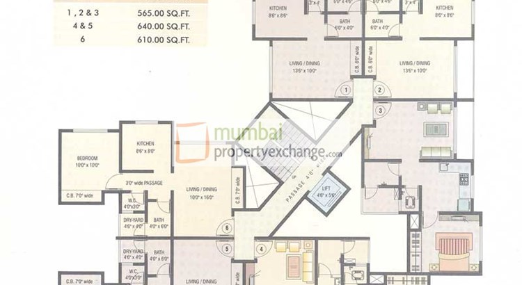 Mukta Residency Floor Plan 1