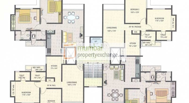 Mukta Residency Floor Plan 2