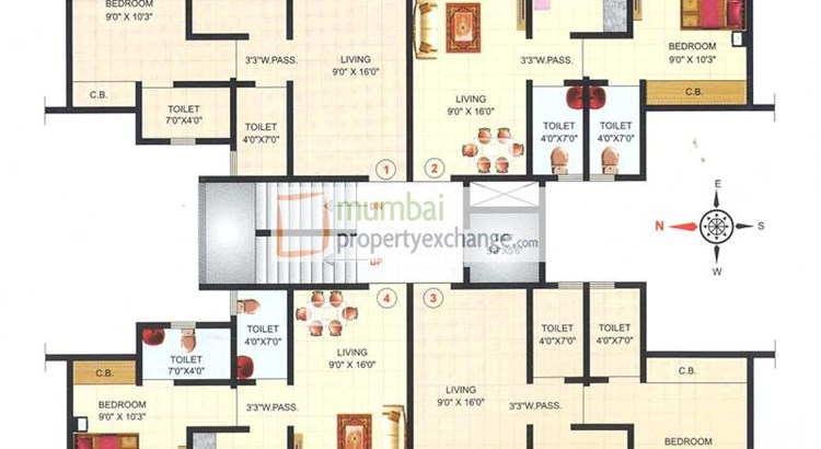 Crown City Floor Plan 3