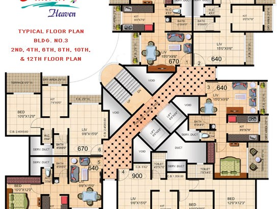 Amrut Heaven Floor Plan V