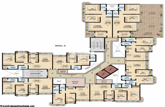 Shanti Lifespaces II A wing 2nd floor plan