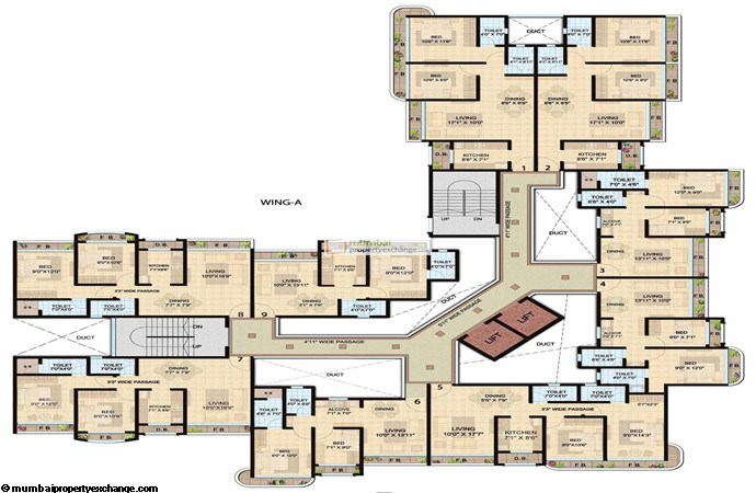 Shanti Lifespaces II A wing typical plan