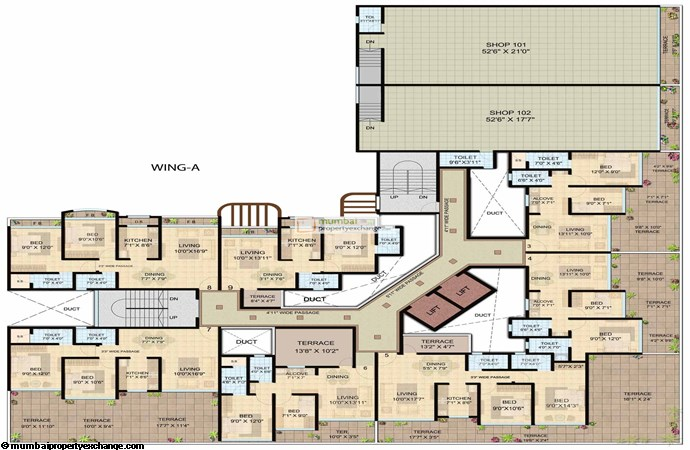 Shanti Lifespaces II Wing A 1st floor plan