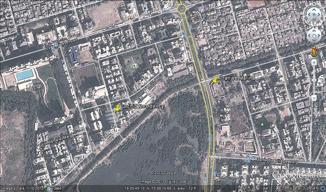 Orchid Residency Google Earth