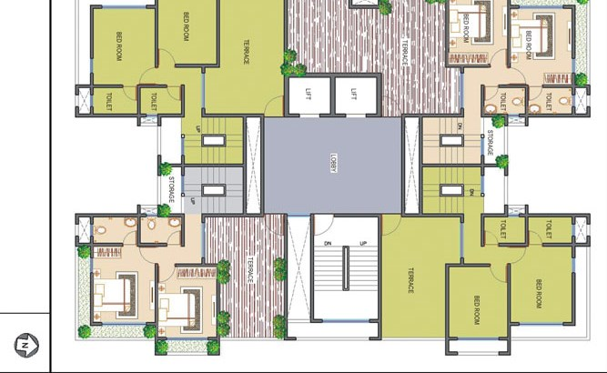 Ramee Heights 14th Floor Plan