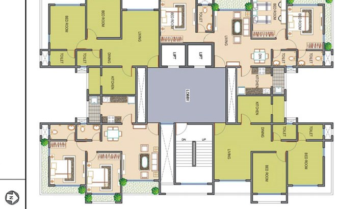 Ramee Heights Even Floor Plan