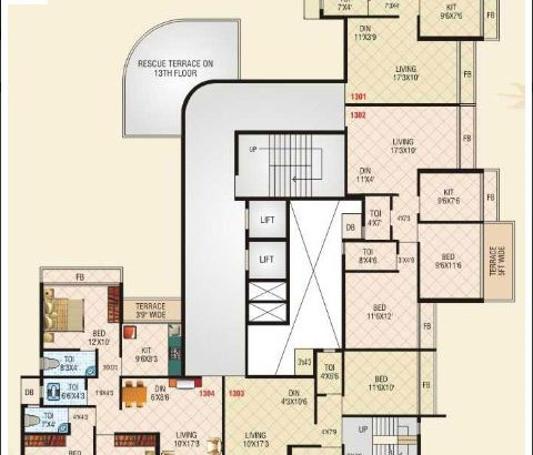 Shelter Empire 13th Floor Plan