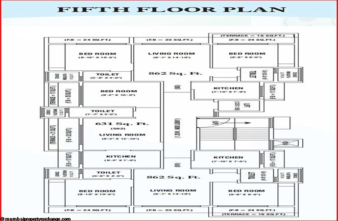 Saarvi Residency 15th Floor Plan