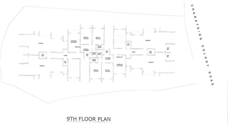 New Jagdamba 9th Floor Plan