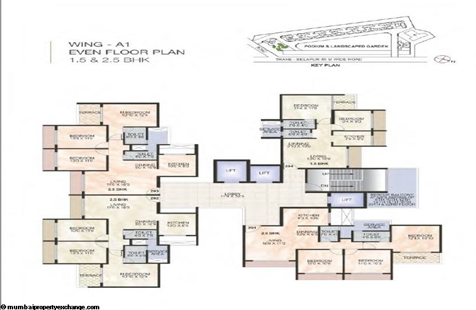 Green World Green World Wing A1 Even Typical floor Plan