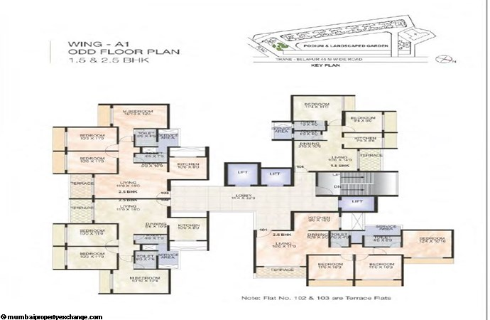 Green World Green World Wing A1 Odd  Typical floor Plan