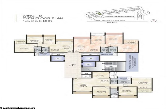Green World Green World Wing A2 Even Typical floor Plan