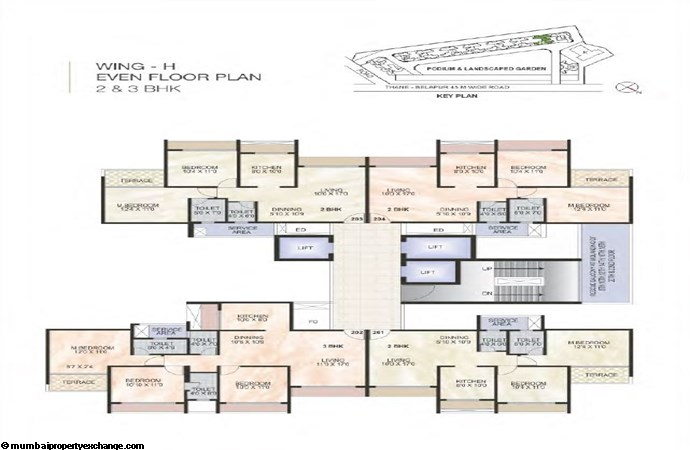 Green World Green World Wing H Even Typical floor Plan