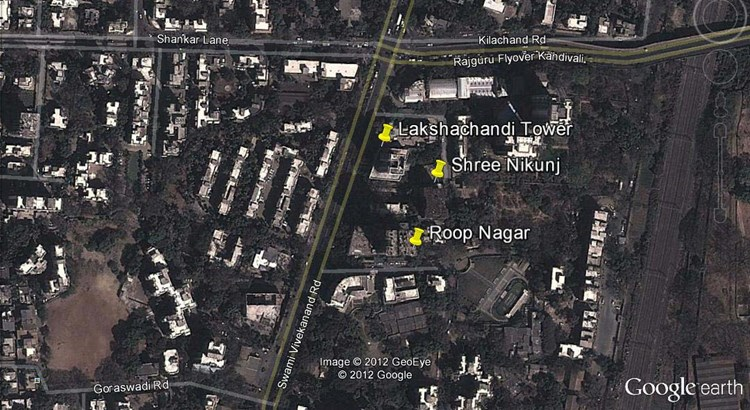 Lakshachandi Towers Google Earth