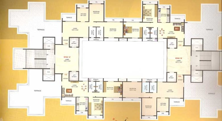 Hill View Residency 17th Floor Plan