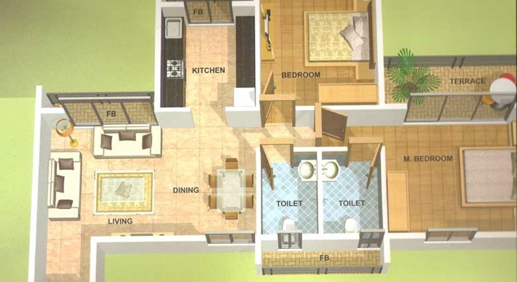 Hill View Residency Floor Plan 1