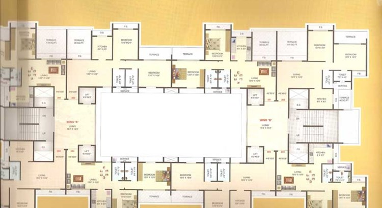 Hill View Residency Floor Plan 2