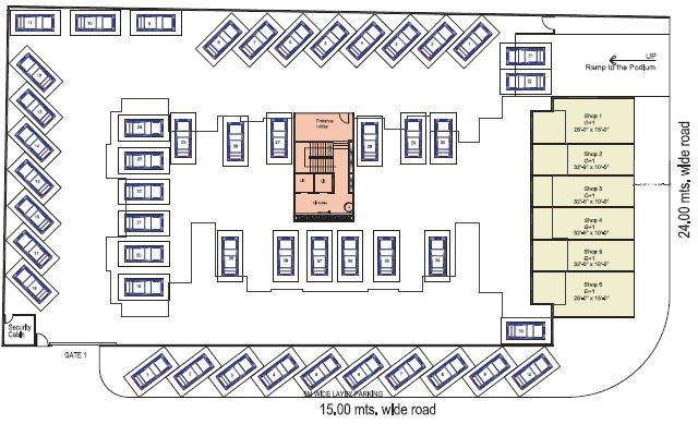 Shah Royale ground floor plan