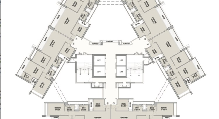 Oberoi Splendor Grande Floor Plan