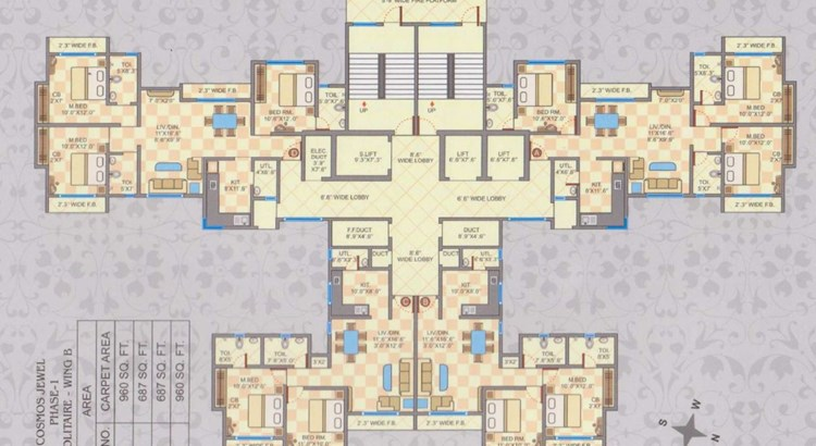 Cosmos Jewels Solitaire Phase I Floor Plan