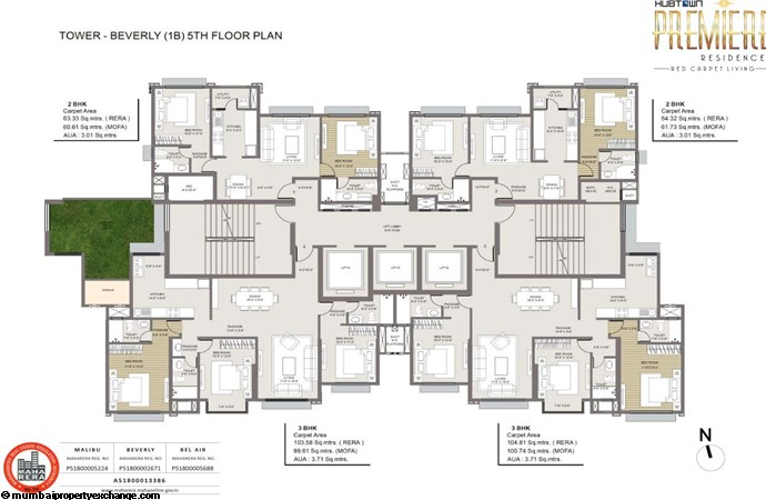Hubtown Premier Residences Premiere Beverly Typical Plan
