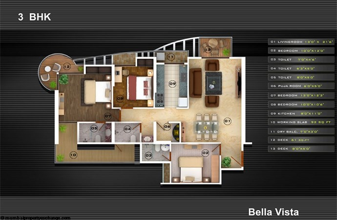 Bella Vista Floor Plan I