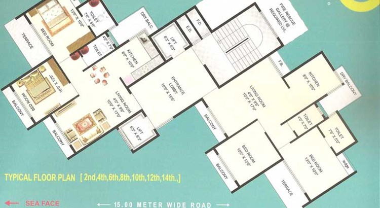 Palm Beach Heights Floor Plan III