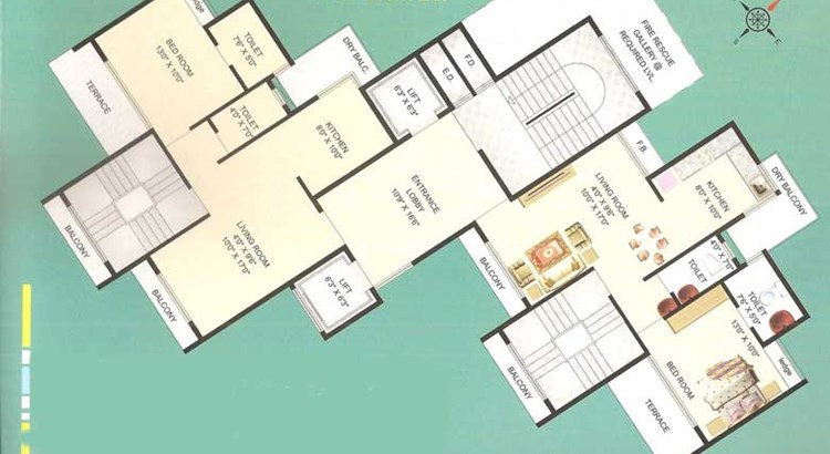 Palm Beach Heights Floor Plan IV