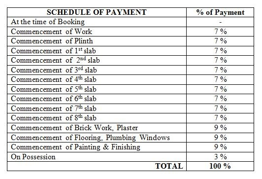 Satyam Paradise Payment Schedule