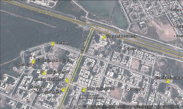 Tharwani Residency Google Earth