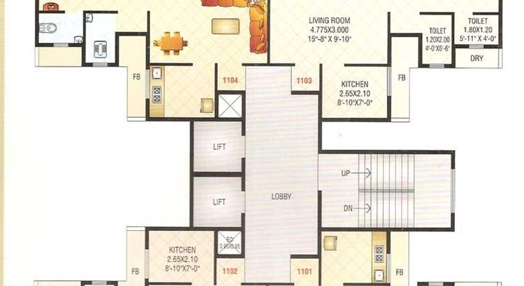 Sai Raj Heights Floor Plan 1